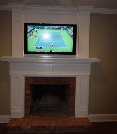 tv over fireplace drawers in the mantel for electronics  Home  Pinterest  Mantels TVs and We