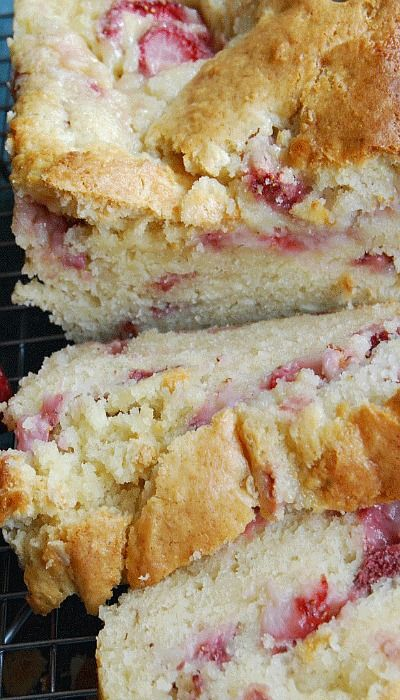 Strawberry Cream Cheese Bread sounds like the perfect dessert with a warm cup of coffee or tea!