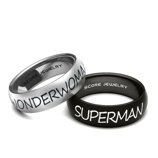 20 Superman And Wonder Woman Ring Tattoos Ideas And Designs