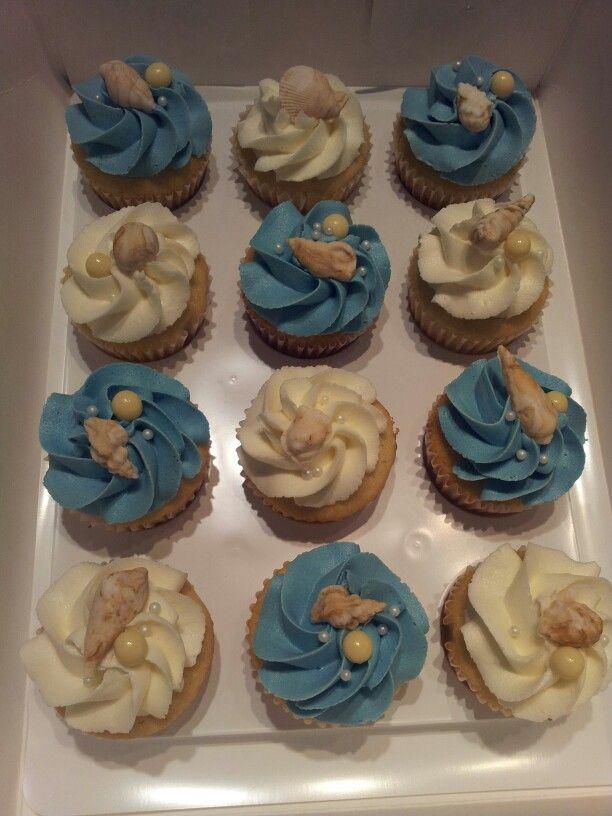 Beach Themed Bridal Shower Cupcakes Cakes By JoJo