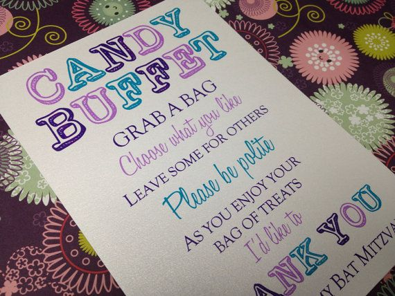 Candy Buffet Sign Candy Bar Sign Love Is Sweet By