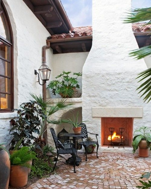 Image Result For Spanish Style Large White Stucco Fireplace 25+ Best Ideas About Stucco Fireplace On Pinterest