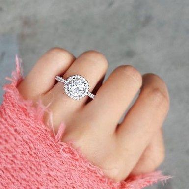 25 best Circle Engagement Rings ideas on Pinterest
