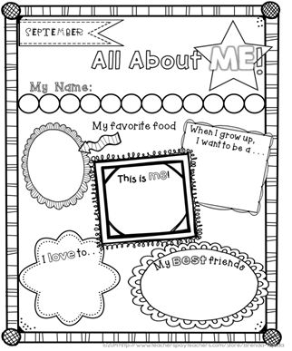 FREE all about me posters for the beginning and end of the
