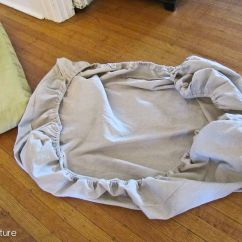 Elastic Kitchen Chair Covers Broyhill Club Reposhture Studio: How To Make An Easy, Cushion Cover   Camper Pinterest ...
