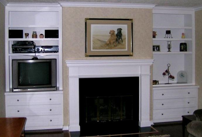 pottery barn living room design ideas tall corner units for best 22 tv beside fireplace images on pinterest | ...