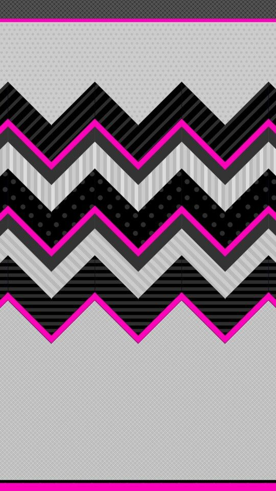 Cute Hello Kitty Wallpaper For Phone Pink Black Grey Chevron Wallpapers Backgrounds