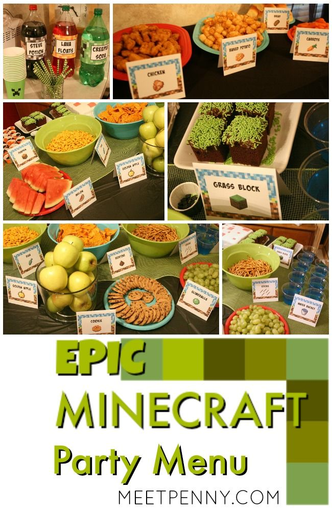 This is the best Minecraft birthday party I have seen and all of the Minecraft party ideas are completely doable without spending