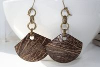 Coconut Jewelry Coconut Earrings Coconut Fan by ...