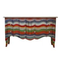 Multi Colored 4 drawer dresser | Painted Furniture ...