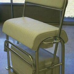 Double Seat Folding Chair Makeup Artist Cooler/leaning Post Mount Http://www.specialtyalworks.com | Boats Pinterest Pontoon Boating