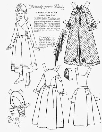 17 Best images about Paper doll coloring pages on