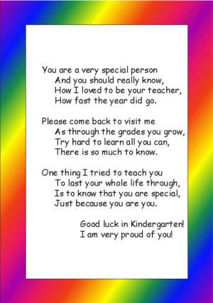 Preschool or Kindergarten Graduation Poem  PreK Graduation  Pinterest  Kindergarten Student