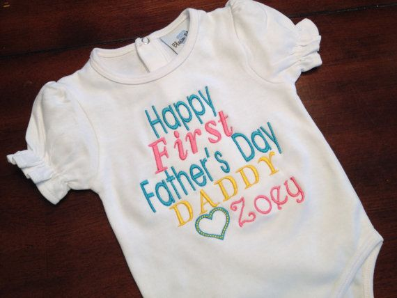 Happy First Fathers Day Daddy From Daughter Onesie With