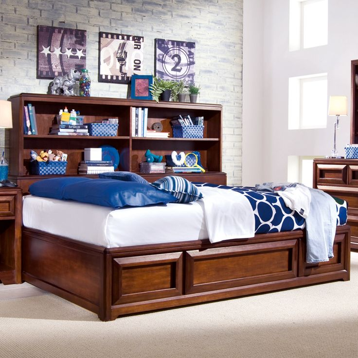 Expressions Platform Storage Bed by Lea Furniture  Solid