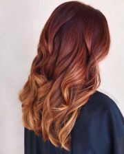 fabulous copper melt hair