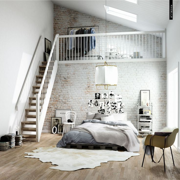 Love this room! - Would personally make the space a full wardrobe with storage underneath.