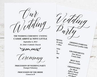 1000+ ideas about Wedding Program Templates on Pinterest