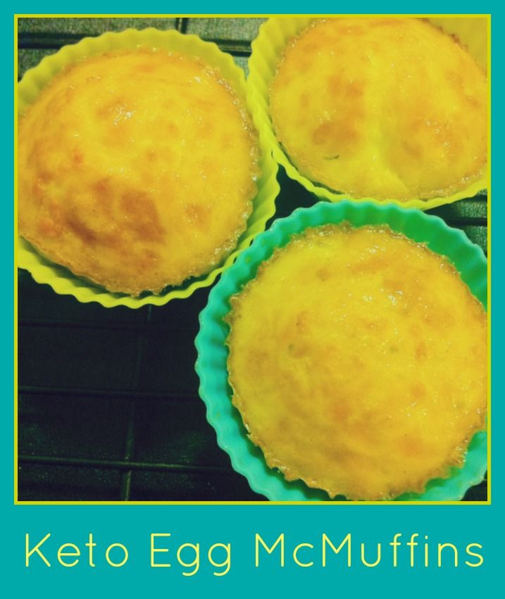 Keto Egg McMuffins  perfect for breakfast throughout the