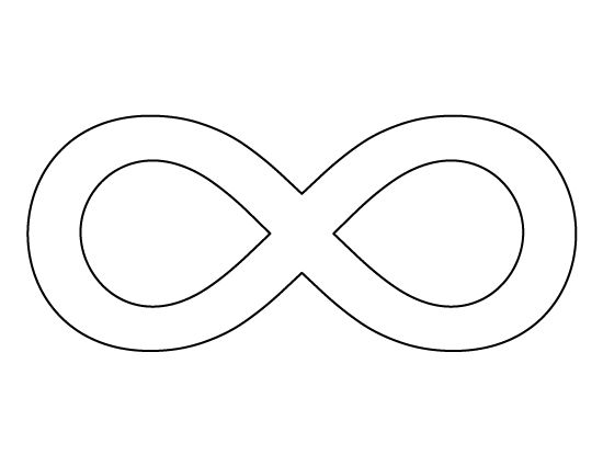 Infinity symbol pattern. Use the printable outline for
