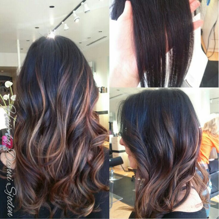 Caramel Balayage Highlights Straight Hair Full Head Of Balayage Highlights To Create A Soft Blended