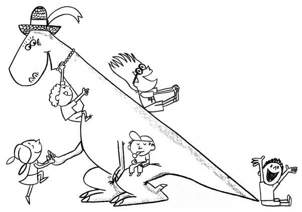 Junior Library Guild : Edwina, the Dinosaur Who Didn 't