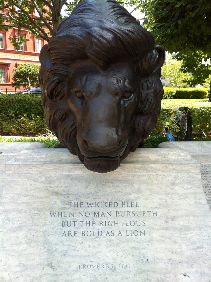 Proverbs 281 National Law Enforcement Memorial In