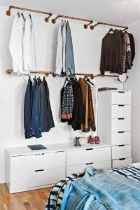 25+ best ideas about Hanging Clothes Racks on Pinterest