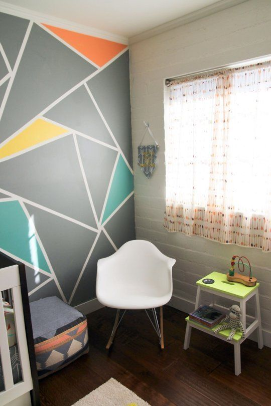 Archers Colorful Nursery with Geometric Elements  My Room  New new Geometric shapes and Step