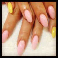 Pink and yellow almond nails | Meg's nail designs ...