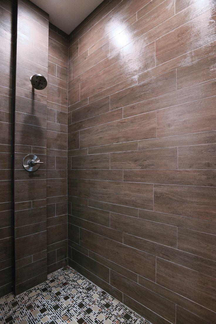 Briarwood Mocha Faux Wood Shower Tile By The Tile Shop