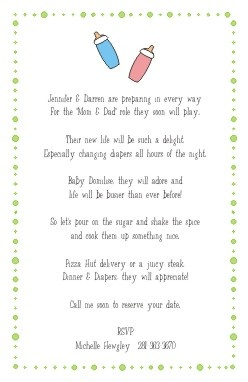 Invitation Wording Baby Baby And Shower Invitations On