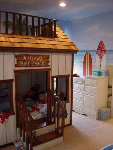 cool bunk beds Super cute So many ideas for other themes can come from thisI love it