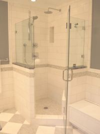 Spaces Corner Showers Design, Pictures, Remodel, Decor and ...