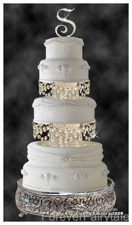 Swarovski Crystal Wedding Cake Tier Separator Set So