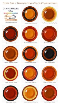Fiesta Color Chart - 1000 images about fiestaware on ...