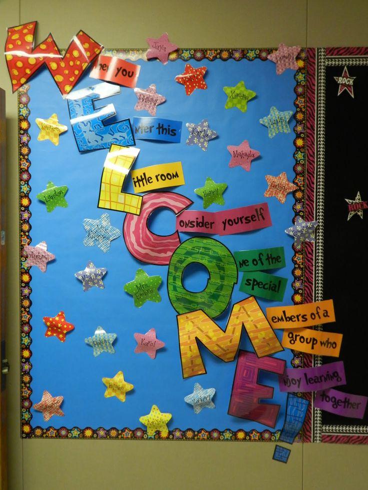 25 best ideas about Welcome Boards on Pinterest  School welcome bulletin boards Preschool