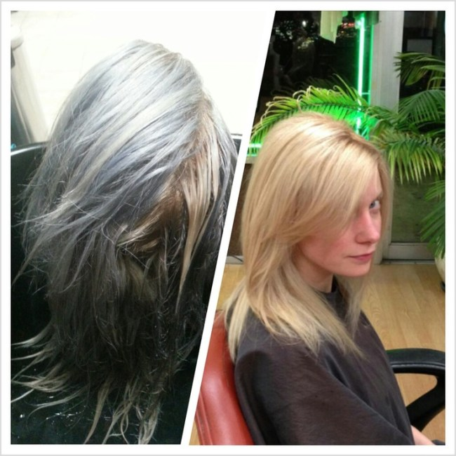 Platinum Blonde Hair Dye Before And After