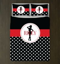 Tap Dance Bedding Set with Polka Dots | Duvet Cover and ...