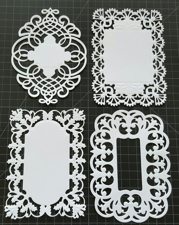 Anna Griffin Frame Die Cuts Festooned July 2016
