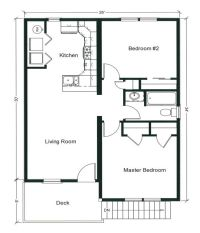 2 Bedroom Bungalow Floor Plan