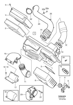 2005 Volvo S40 T5 Engine Parts Diagram | Projects to Try