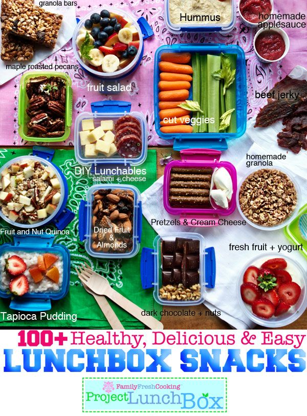 100+ Healthy, Delicious and Easy Lunchbox Snacks