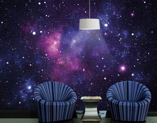 Photo Wall Mural GALAXY 400x280 Wallpaper Wall Art Decor Universe Space Violet  Furniture