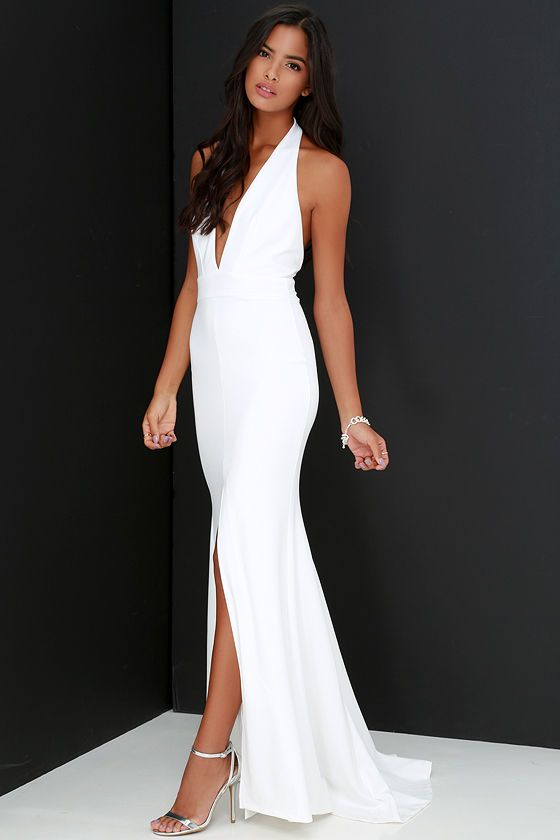 Time Out of Mind Ivory Halter Maxi Dress  Halter maxi