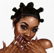 1000 black girl art
