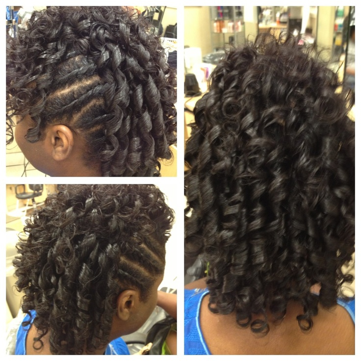 Spiral curl mohawk  Hair and beauty  Pinterest  Spiral curls Curls and Mohawks
