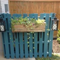 Cover an ugly AC unit with painted pallets & some ...