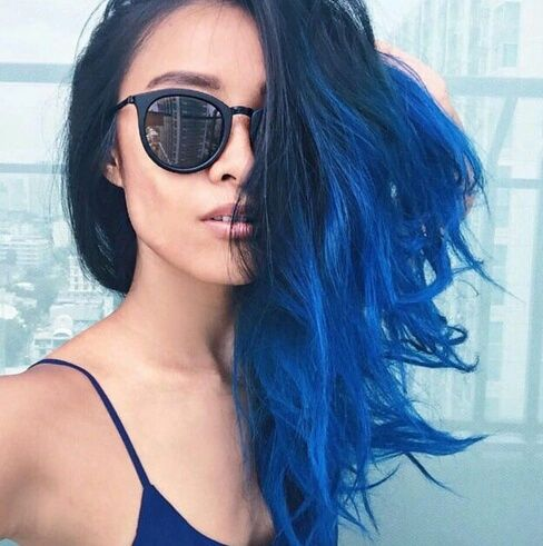 25 best ideas about blue ombre hair on pinterest blue hair dark blue hair and crazy hair colour