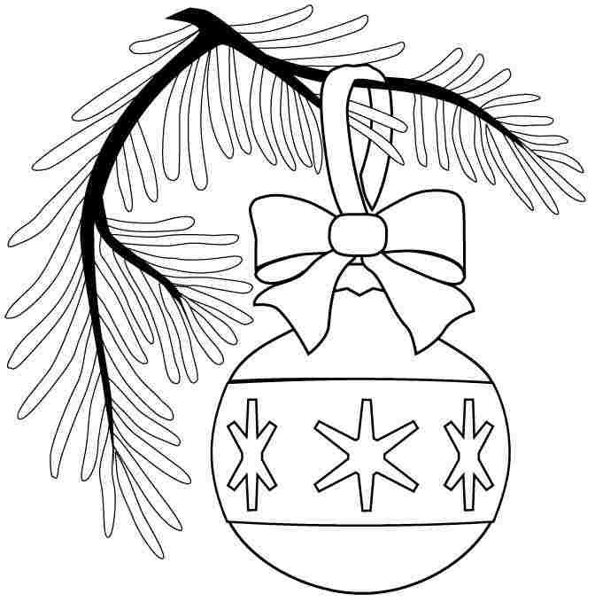 Printable Free Coloring Pages Christmas Ornament For Boys